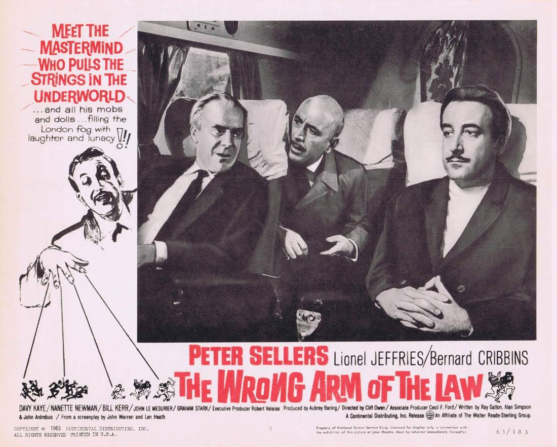 THE WRONG ARM OF THE LAW Lobby Card 3 Peter Sellers Lionel Jeffries Bernard Cribbins