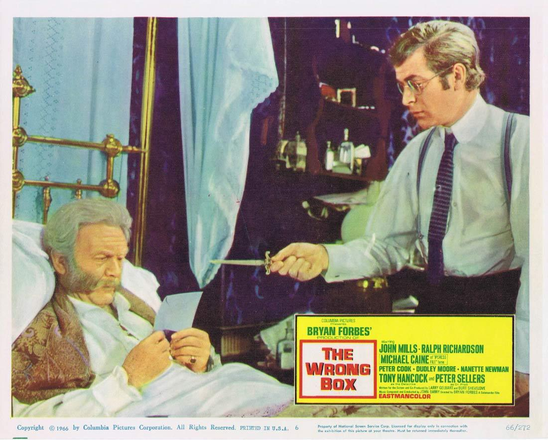THE WRONG BOX Lobby Card 6 John Mills Michael Caine Ralph Richardson
