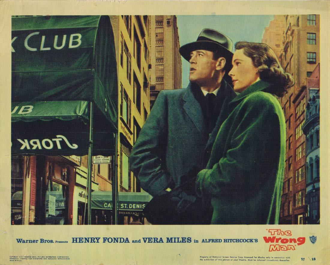 THE WRONG MAN Lobby card 1 Alfred Hitchcock