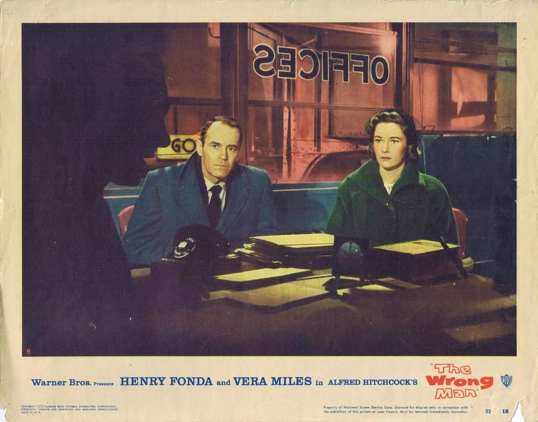 THE WRONG MAN Original Lobby Card 8 Henry Fonda Vera Miles Alfred Hitchcock