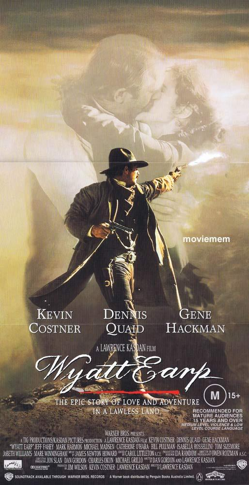 WYATT EARP Kevin Costner GREAT ART Original daybill Movie poster