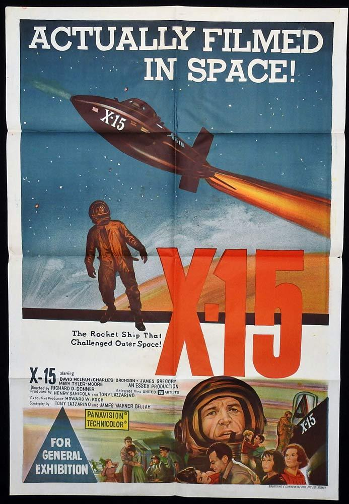 X-15 Original One Sheet Movie Poster Charles Bronson Science Fiction