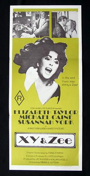 X Y AND ZEE Original Daybill Movie Poster Elizabeth Taylor