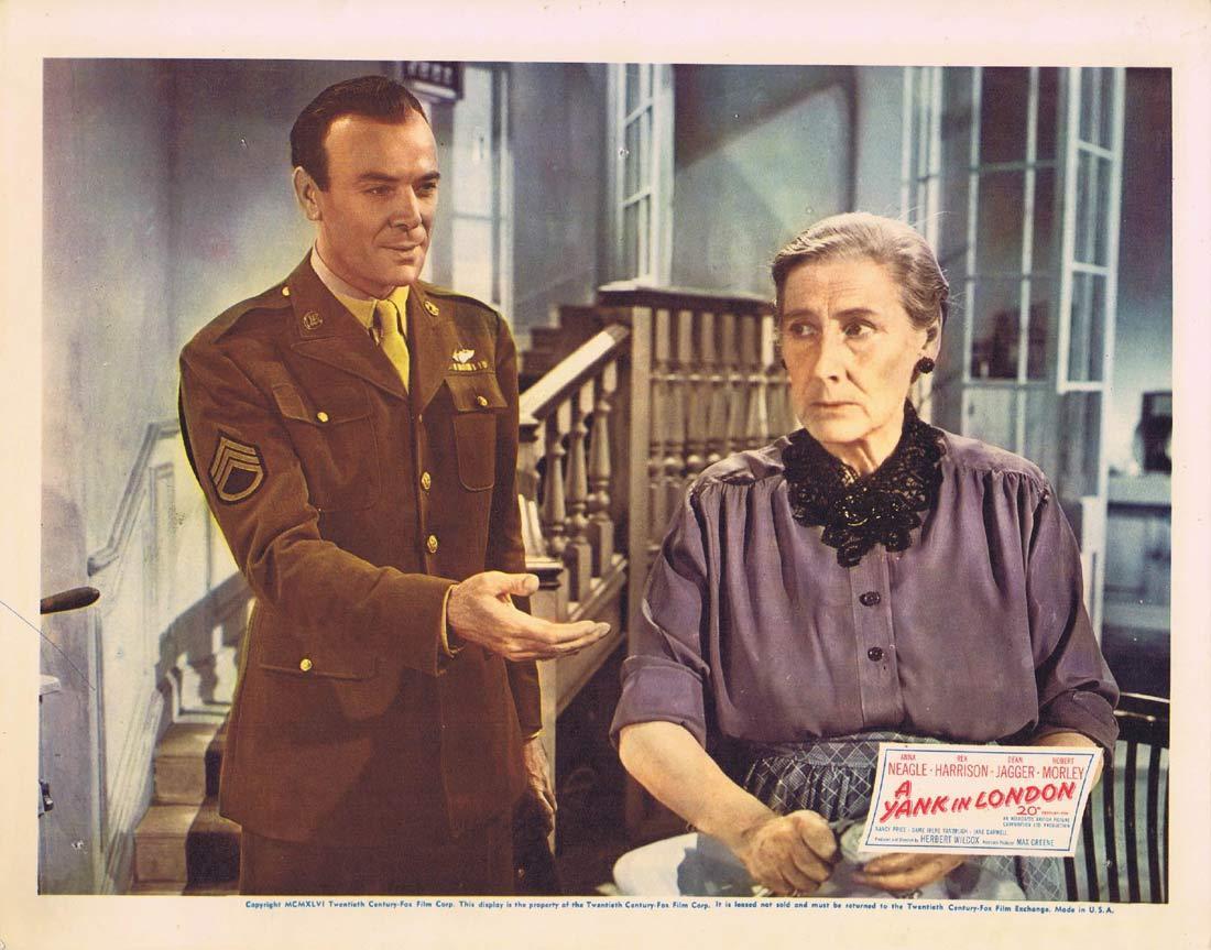 A YANK IN LONDON Original Lobby Card 3 Anna Neagle Rex Harrison 1945