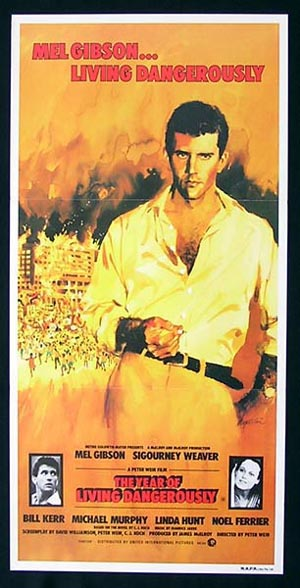THE YEAR OF LIVING DANGEROUSLY Mel Gibson daybill movie poster