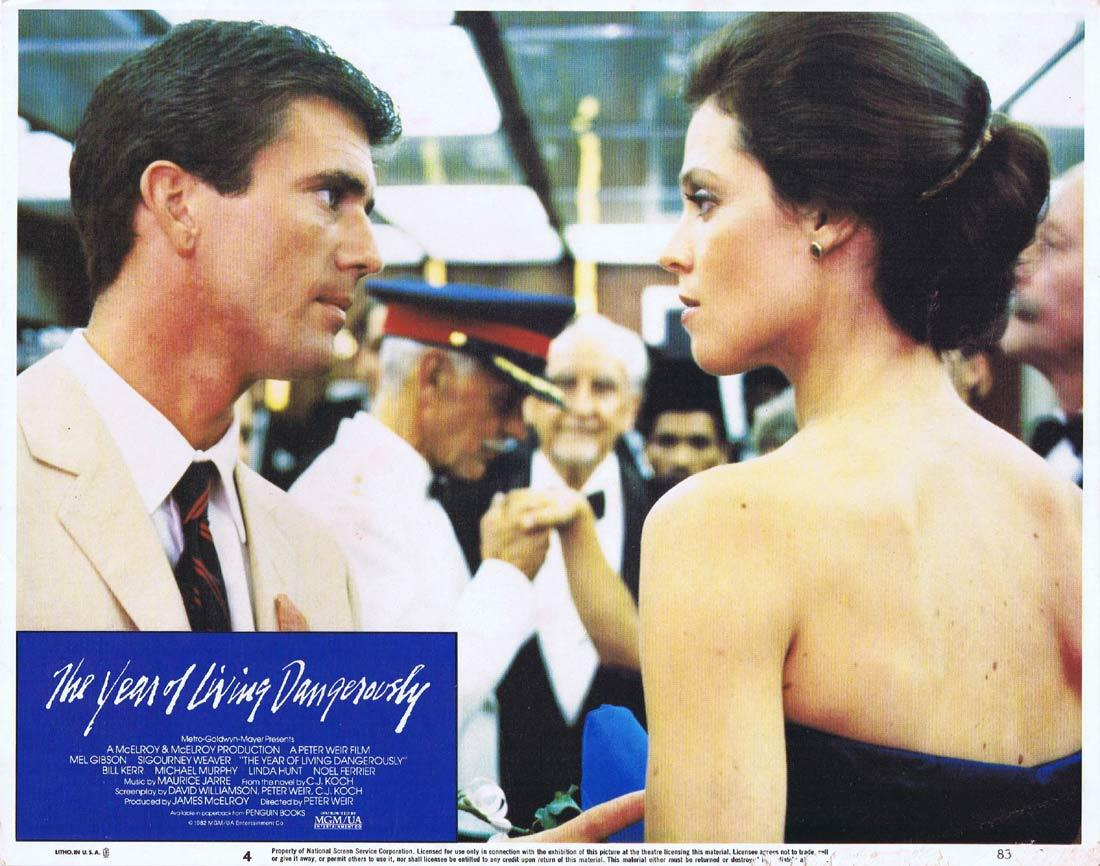 THE YEAR OF LIVING DANGEROUSLY Original Lobby Card 4 MEL GIBSON Peter Weir