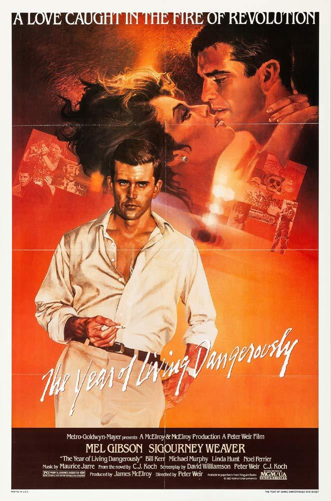 THE YEAR OF LIVING DANGEROUSLY Original One sheet Movie poster Mel Gibson