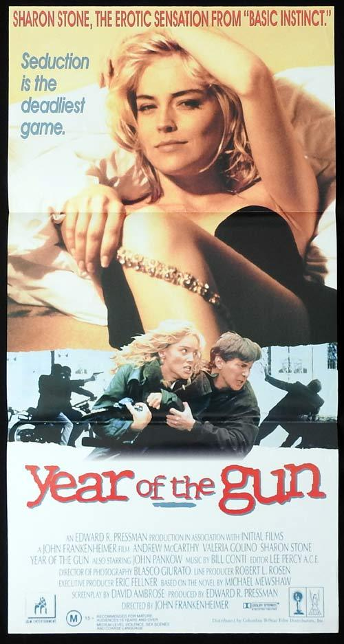 YEAR OF THE GUN Original Daybill Movie Poster Sharon Stone Andrew McCarthy