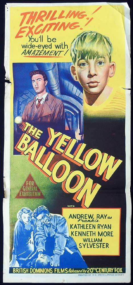 THE YELLOW BALLOON Original Daybill Movie Poster Andrew Ray