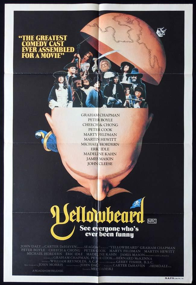 YELLOWBEARD Original One sheet Movie poster Graham Chapman