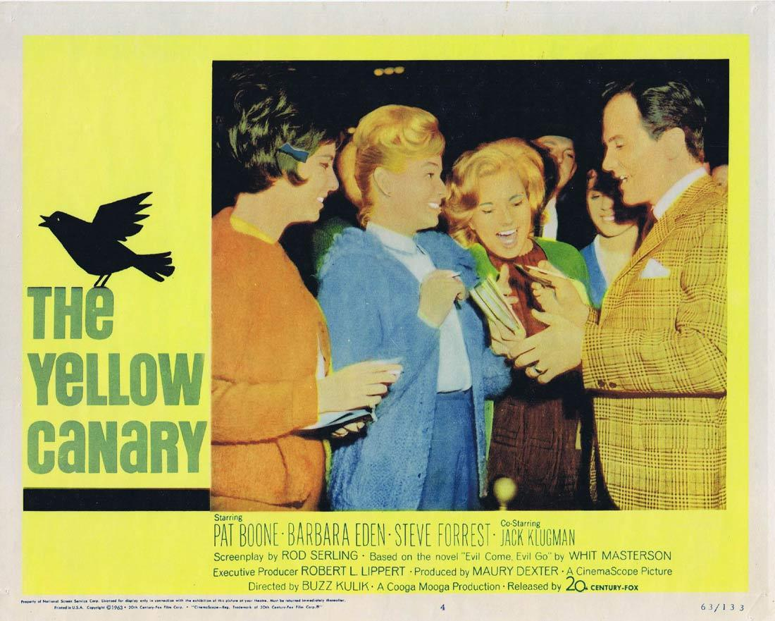 THE YELLOW CANARY Lobby Card 4 Pat Boone Barbara Eden