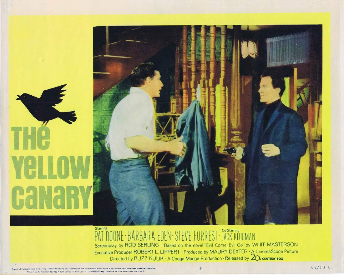 THE YELLOW CANARY Lobby Card 5 Pat Boone Barbara Eden
