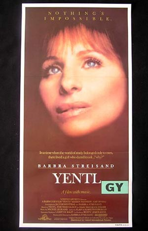 YENTL 1983 Barbra Steisand ORIGINAL Australian daybill