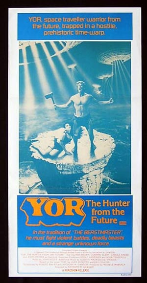 YOR-The Hunter from the Future-FANTASY daybill poster