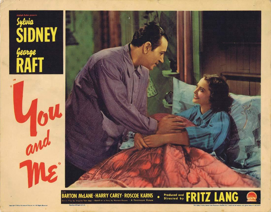 YOU AND ME Lobby card 7 George Raft Fritz Lang Sylvia Sidney