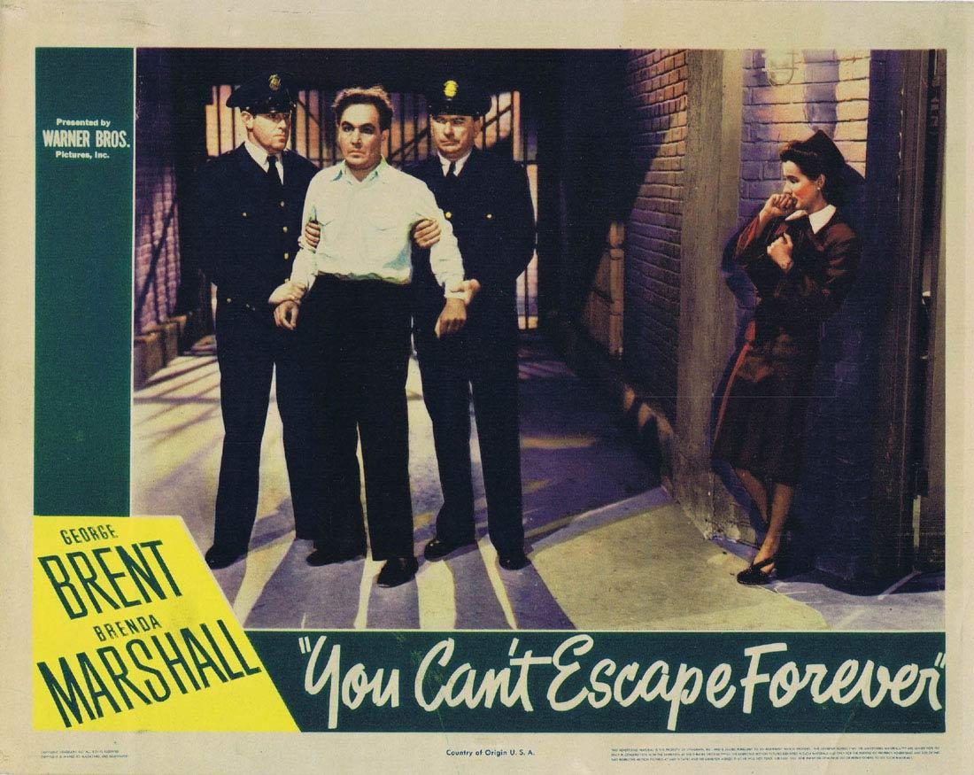 YOU CAN'T ESCAPE FOREVER Lobby card George Brent FIlm Noir