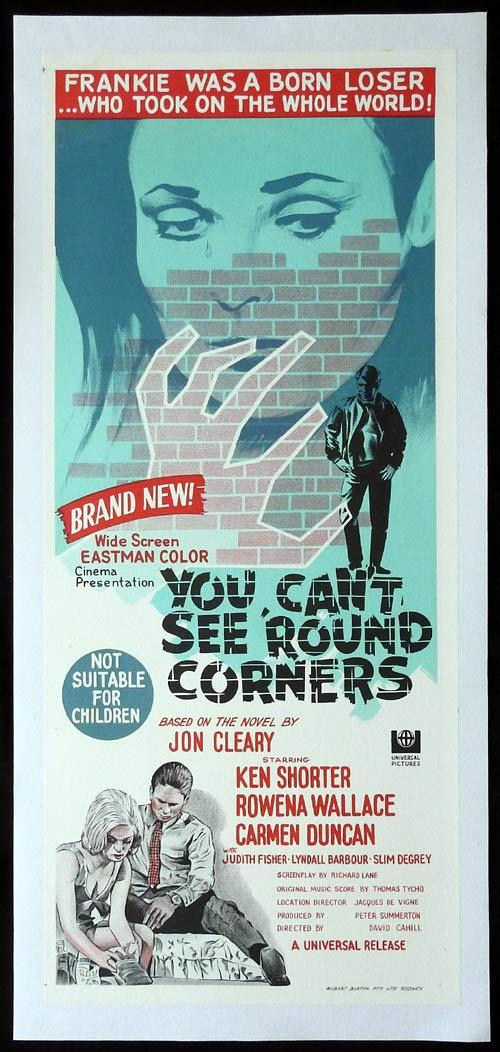 YOU CAN'T SEE ROUND CORNERS Linen Backed Daybill Movie poster