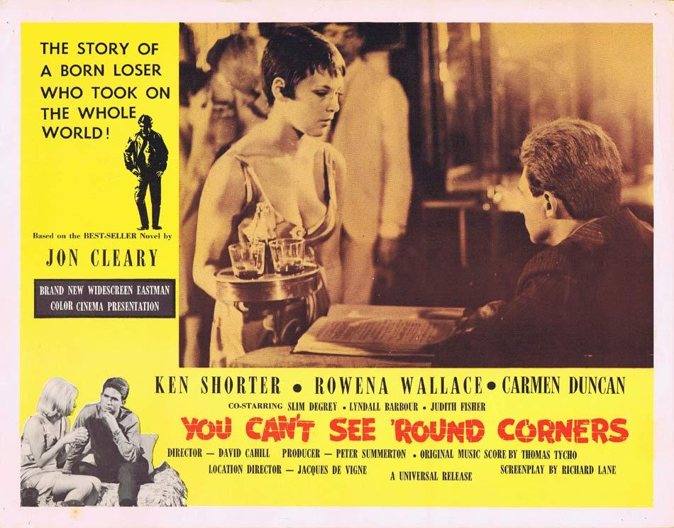 YOU CAN'T SEE ROUND CORNERS Australian Lobby Card 2 Ken Shorter