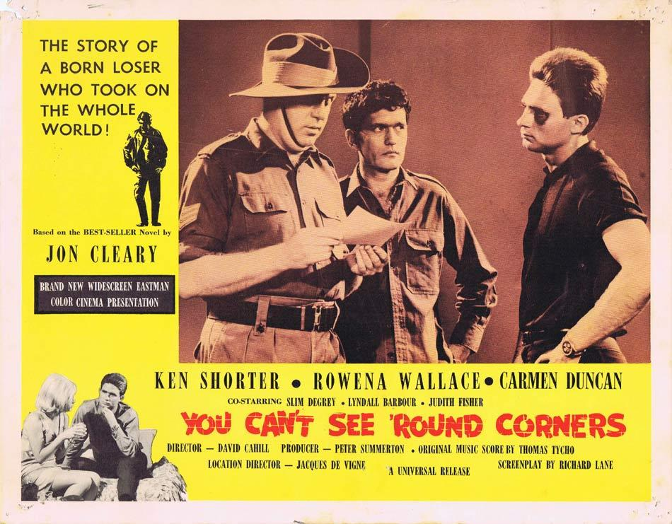 YOU CAN'T SEE ROUND CORNERS Australian Lobby Card 3 Ken Shorter