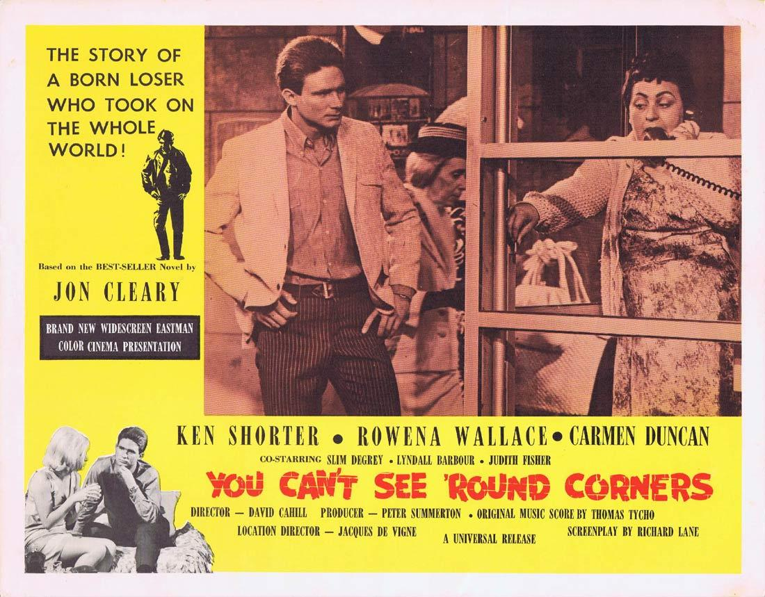 YOU CAN'T SEE ROUND CORNERS Australian Lobby Card 5 Ken Shorter