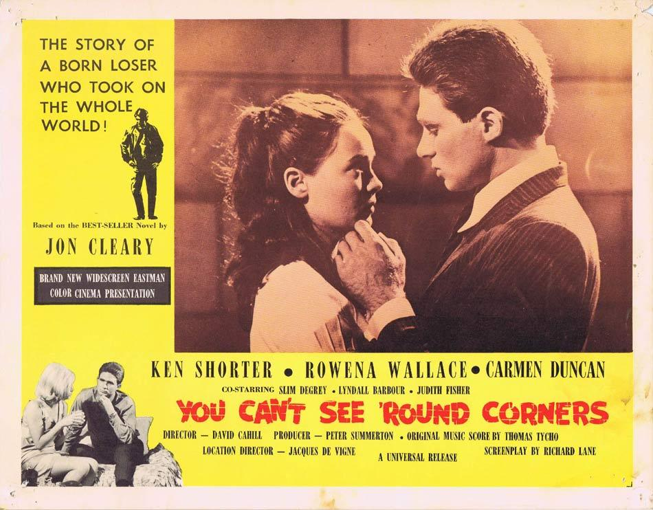 YOU CAN'T SEE ROUND CORNERS Australian Lobby Card 8 Ken Shorter