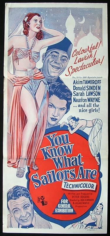 YOU KNOW WHAT SAILORS ARE 54 Akim Tamiroff Movie poster