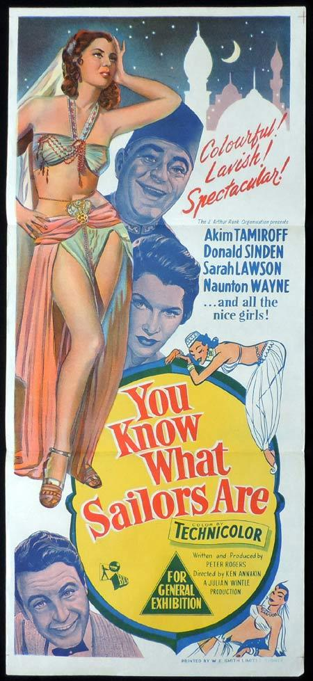 YOU KNOW WHAT SAILORS ARE Original Daybill Movie Poster Akim Tamiroff