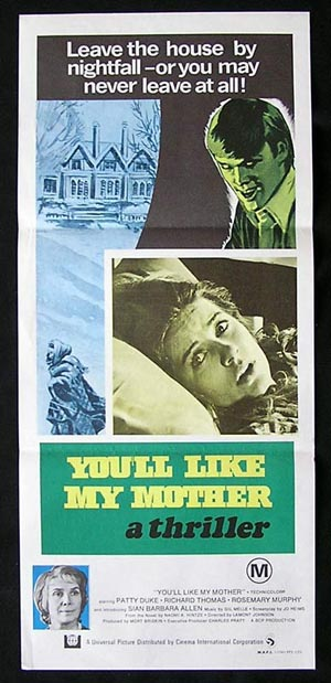 YOU'LL LIKE MY MOTHER '72-Patty Duke ORIGINAL poster