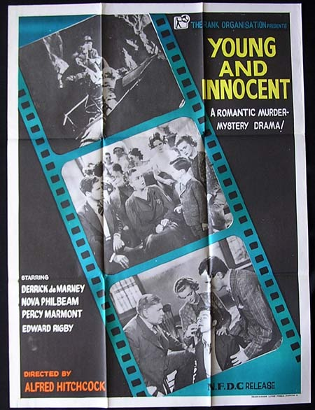 YOUNG AND INNOCENT '37-Hitchcock INDIAN poster