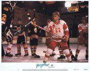 YOUNGBLOOD Original Lobby Card 3 ROB LOWE Patrick Swayze Ice Hockey