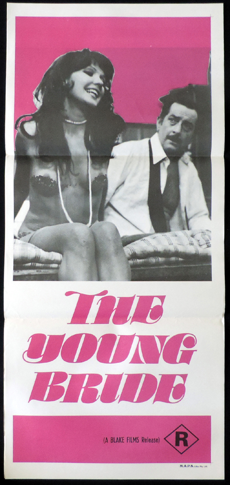 THE YOUNG BRIDE Original Daybill Movie poster Sexploitation