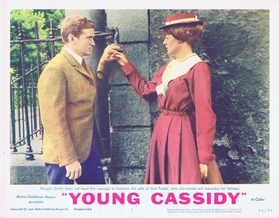 YOUNG CASSIDY Lobby Card 7 1965 Rod Taylor Julie Christie