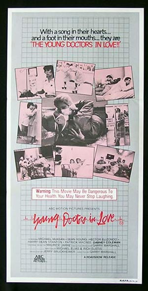 YOUNG DOCTORS IN LOVE 1982 daybill Movie Poster