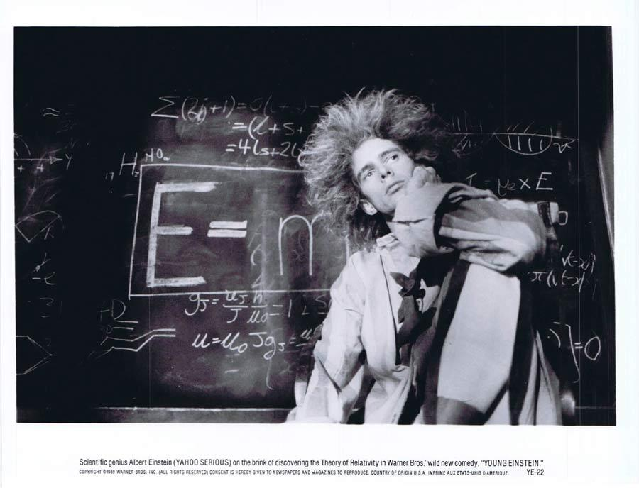 YOUNG EINSTEIN Original Movie Still 4 Yahoo Serious as Albert Einstein