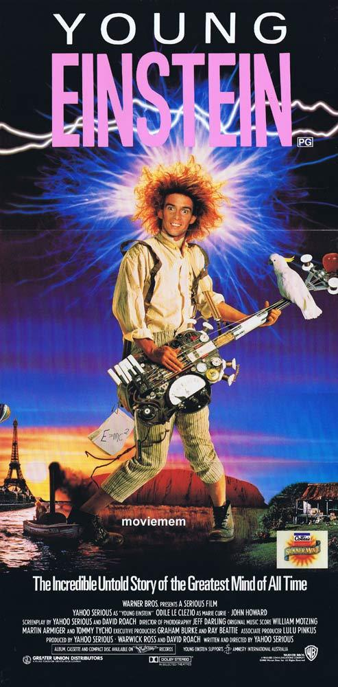 YOUNG EINSTEIN Original daybill Movie poster Yahoo Serious