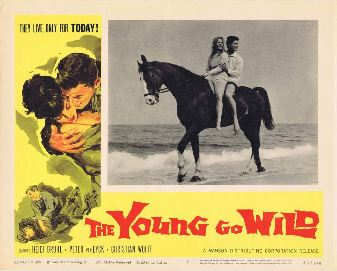 THE YOUNG GO WILD Vintage Movie Lobby Card 2 Heidi Bruhl Peter Van Eyck