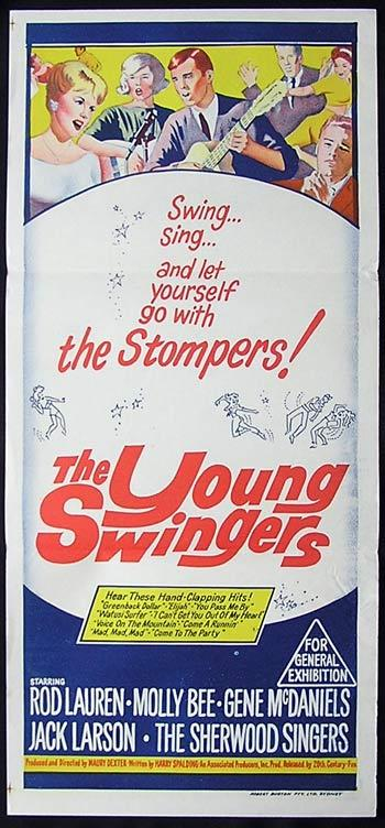 YOUNG SWINGERS Movie poster 1962 Molly Bee Australian Daybill