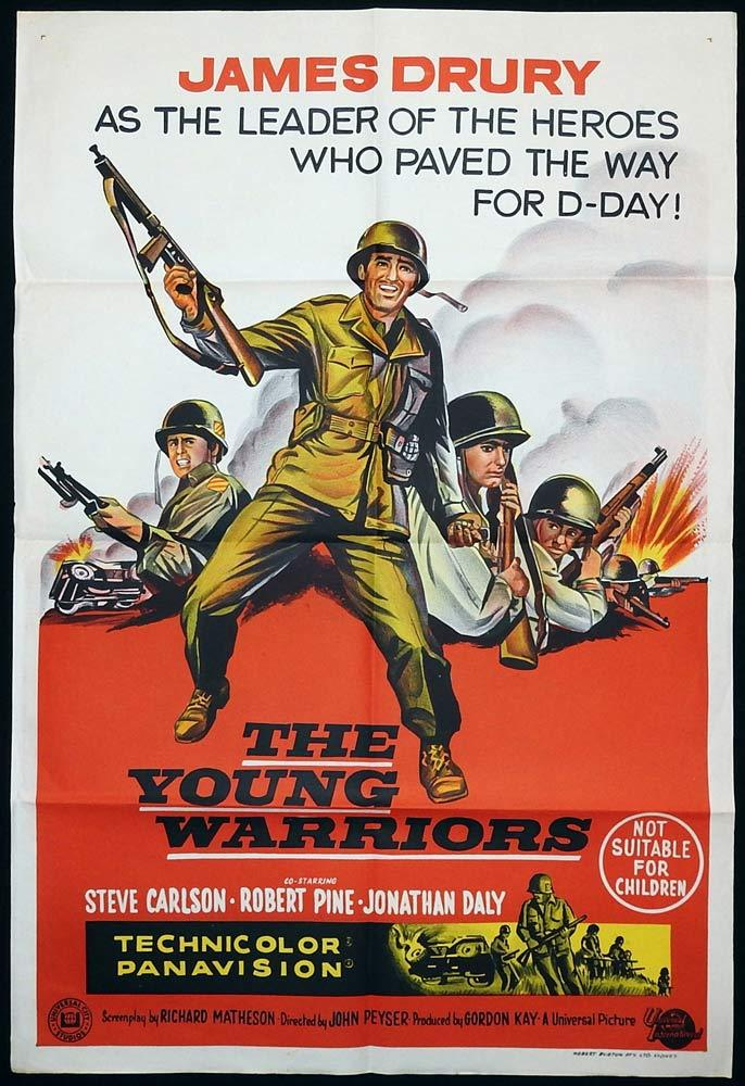 THE YOUNG WARRIORS Original One sheet Movie poster James Drury