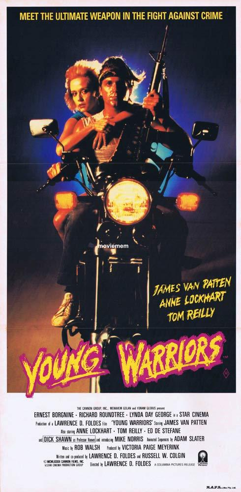 THE YOUNG WARRIORS Original Daybill Movie Poster James Van Patten Motorcycle