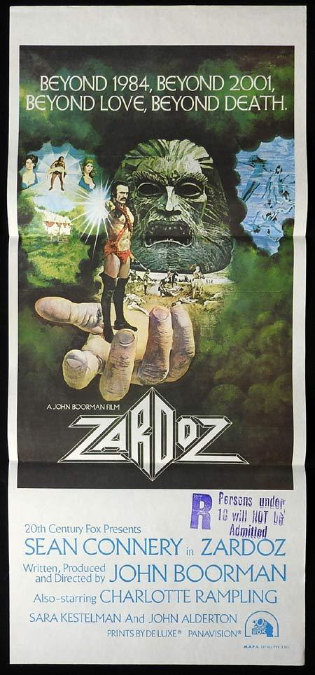 ZARDOZ Original Daybill Movie Poster Sean Connery