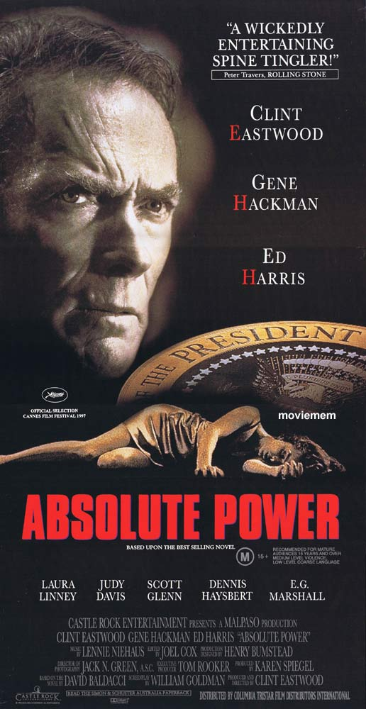 ABSOLUTE POWER Daybill Movie poster Clint Eastwood Gene Hackman