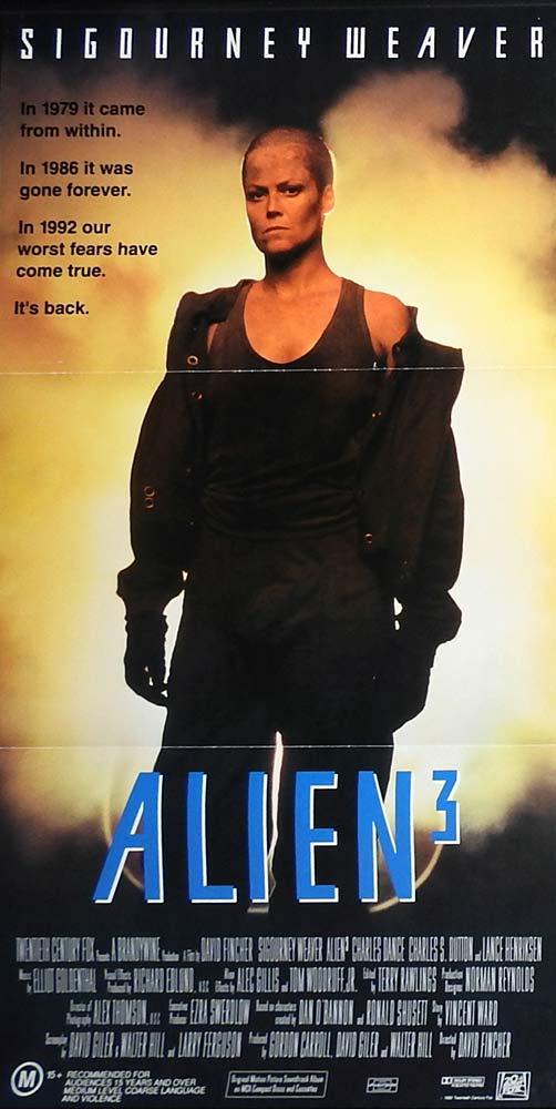 ALIEN 3 Original Daybill Movie Poster Sigourney Weaver Charles S. Dutton