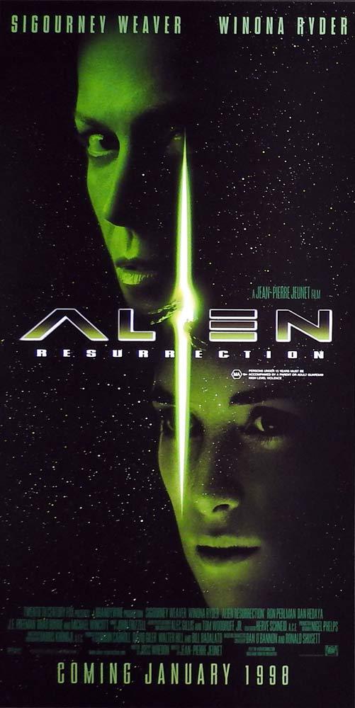 ALIEN RESURRECTION Original Advance Rolled Daybill Movie poster