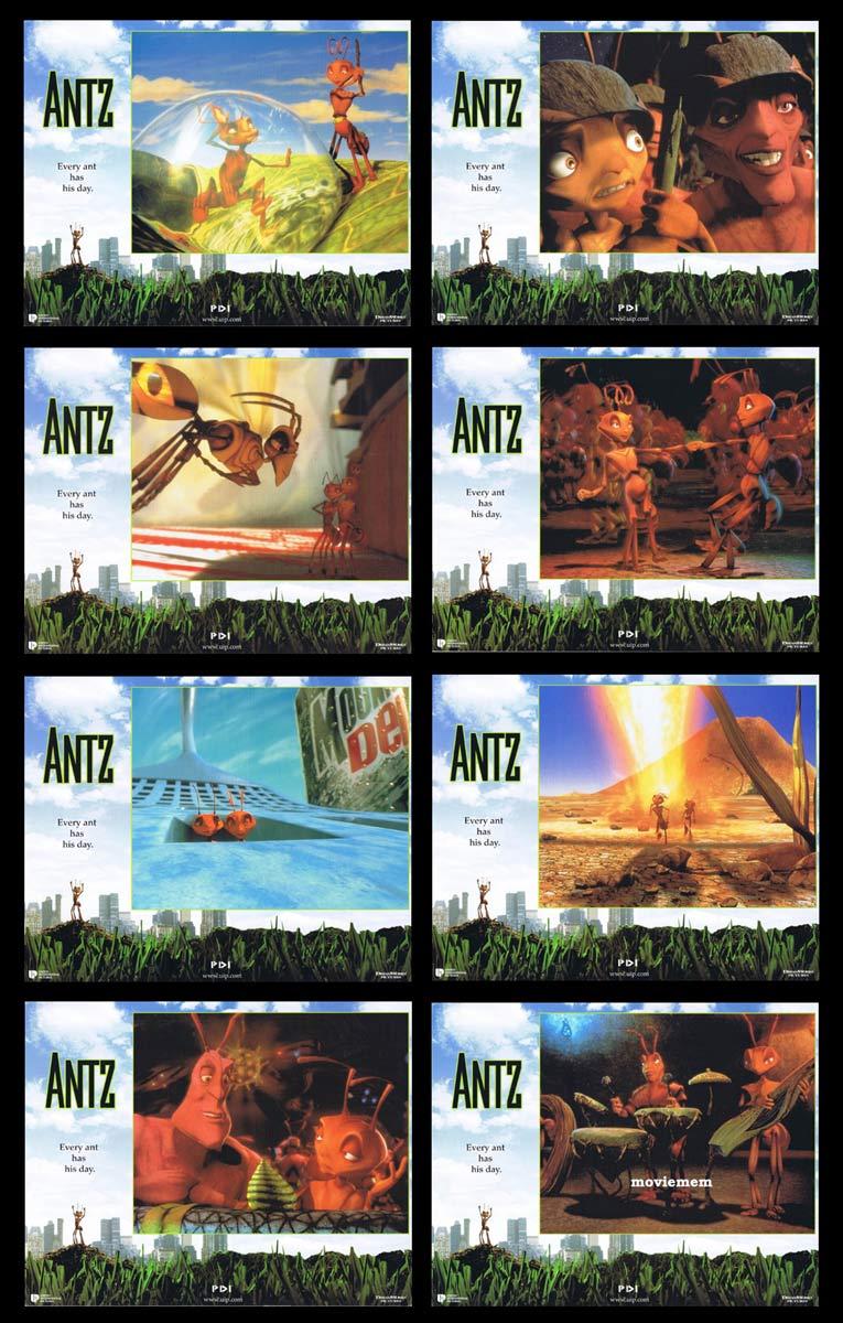ANTZ Original Lobby Card Set Woody Allen Dan Aykroyd Anne Bancroft