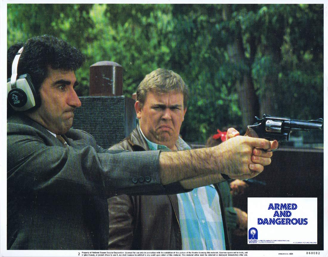 ARMED AND DANGEROUS Original Lobby Card 2 John Candy Eugene Levy Robert Loggia