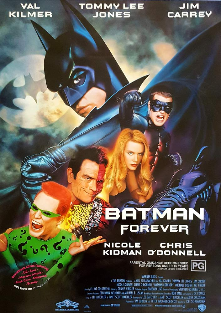 BATMAN FOREVER Original Rolled One sheet Movie poster 1995 Val Kilmer