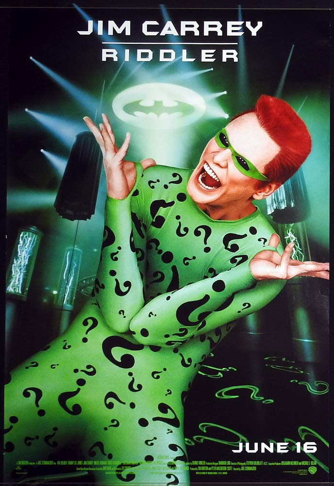 BATMAN FOREVER Original Rolled  US One sheet Movie poster Jim Carrey