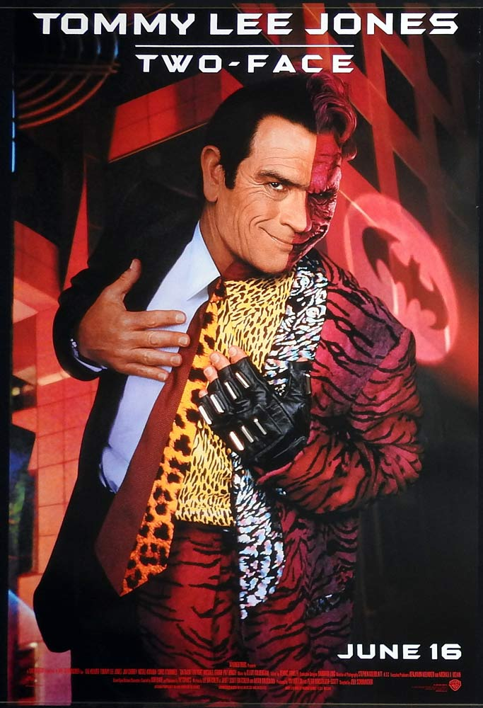 BATMAN FOREVER Original Rolled SS US One sheet Movie poster Tommy Lee Jones
