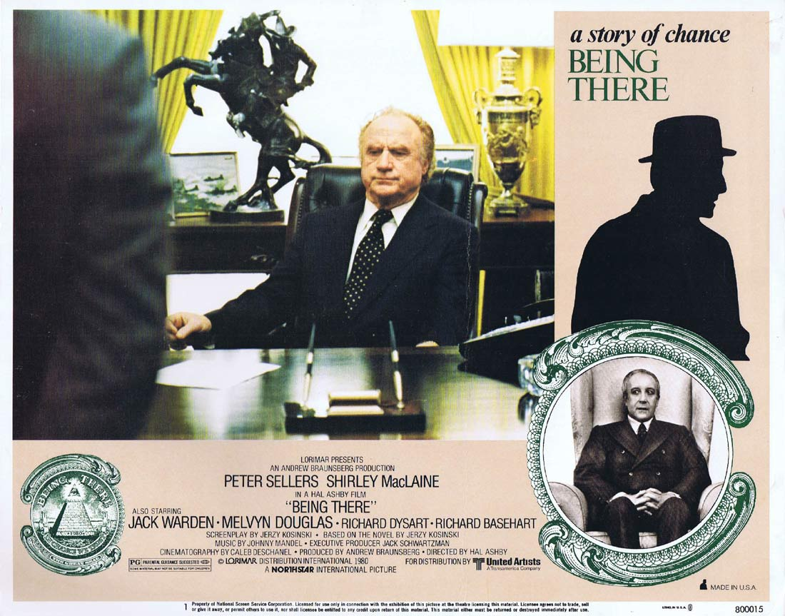 BEING THERE Original Lobby Card 1 Peter Sellers Shirley MacLaine