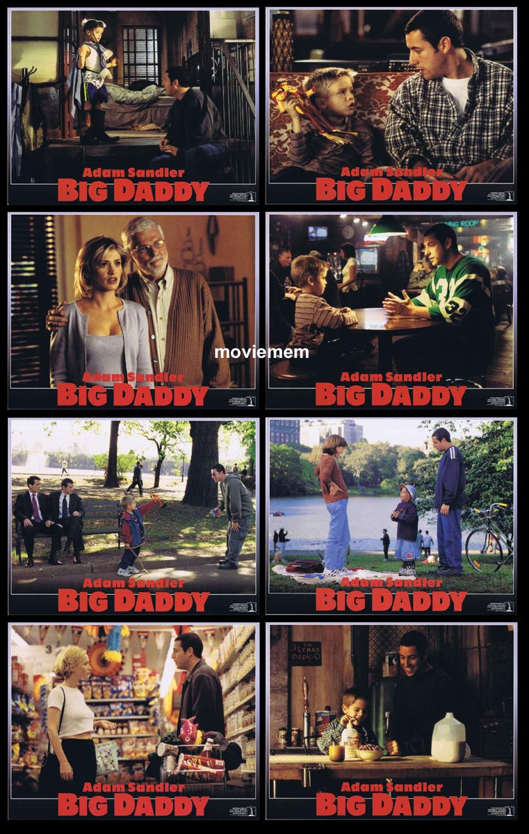 BIG DADDY Original Lobby Card Set Adam Sandler Joey Lauren Adams